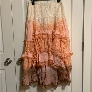 Boho skirt. Together. Spring skirt. Lace layers.